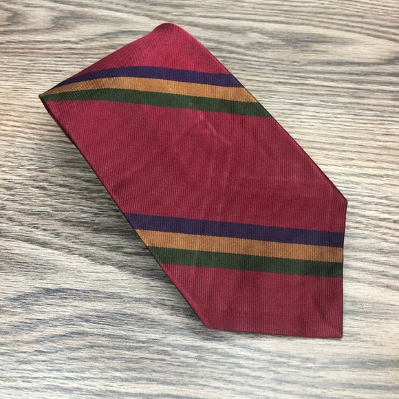 Robert Talbott Other - Robert Talbott Red, Gold, Navy & Green Stripe Tie